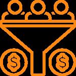 Premium health content funnel to income orange
