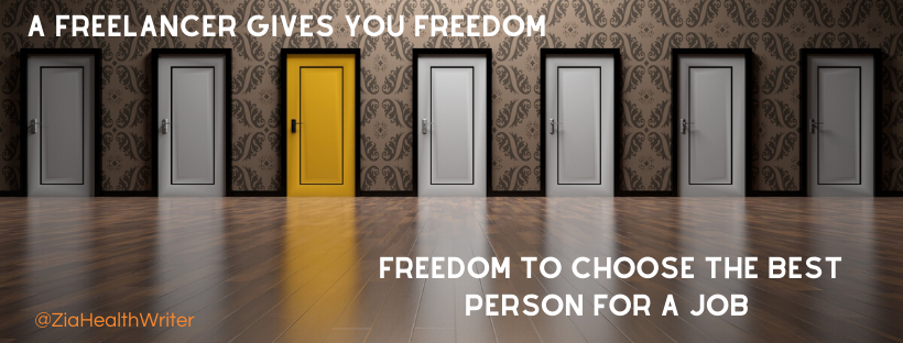 freelance writer means freedom