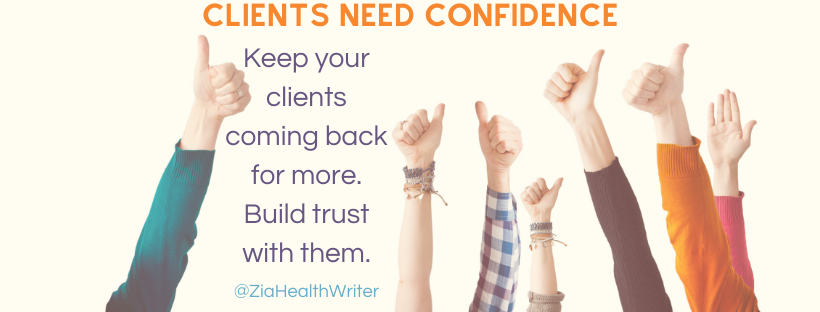 marketing clients need confidence