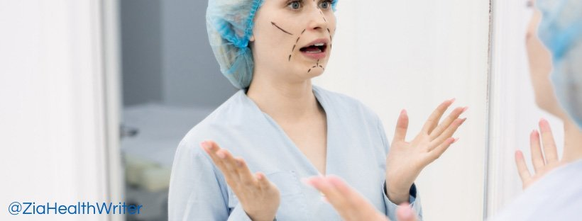 Image of cosmetic surgery patient ready for surgery