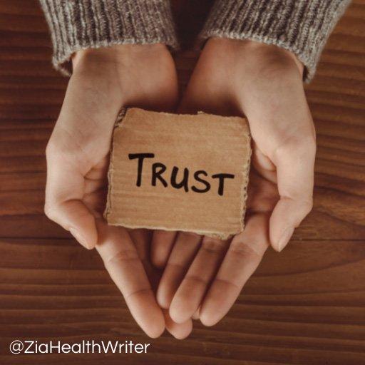 trust label in open hands