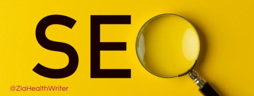 SEO artwork using magnifying glass