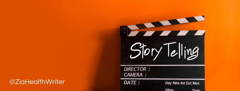 image showing a story board with the words story telling wrote on it