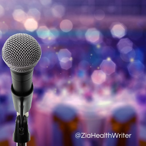 Image of a microphone on a soft focus background