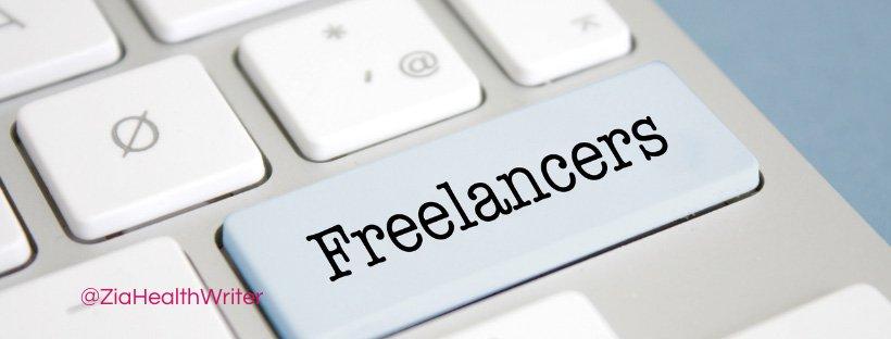 Image of part of keyboard. One key reads freelances