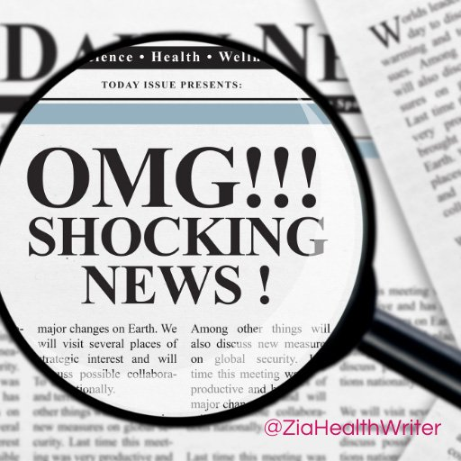 image of a newspaper headline under a magnifying glass