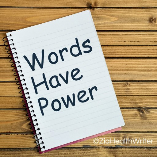 """image of notepad with """"words have power"""" written on it"""