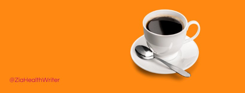 image of a cup of black coffee on a orange background